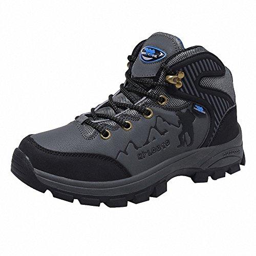 Ben Sports Zapatillas de senderismo Botas Correr en montaña para Hombre,37-46 Gris