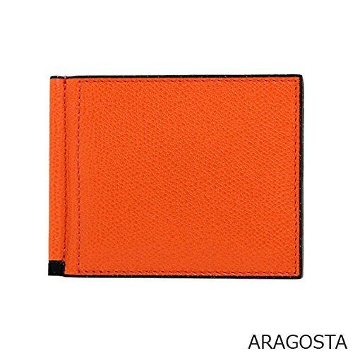 (ヴァレクストラ) VALEXTRA メンズ 二つ折り財布 マネークリップ付 GRIP 6CC HOLDER V0L80 028 [並行輸入品] B074M3RL8B Aragosta Aragosta