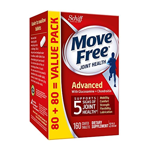 Move Free Advanced, 160 tablets - Joint Health Supplement with Glucosamine and Chondroitin (Advanced Glucosamine)