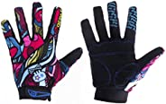 YYGIFT Cycling Full Finger Gloves Gel Pad Telefingers for Sports Bicycle Riding Skiing Weightlifting Hunting F