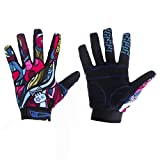 YYGIFT Unisex Breathable Cycling Gloves Anti-Slip Full Finger Gel Gloves for Bicycle Riding Skiing Weightlifting Hunting Training - Gorgeous Color M