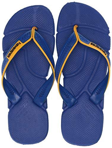 Havaianas Men's Power Flip Flop Sandal,Marine Blue, 43/44 BR(12-13 M US Women's / 11-12 M US Men's)