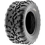 SunF 25x10-12 (25x10x12) ATV/UTV Off-Road Tire, 6PR, Directional Knobby Tread | A010