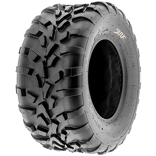 SunF 25x11-10 (25x11x10) ATV/UTV Off-Road Tire, 6PR, Directional Knobby Tread | A010 by SunF (Image #1)