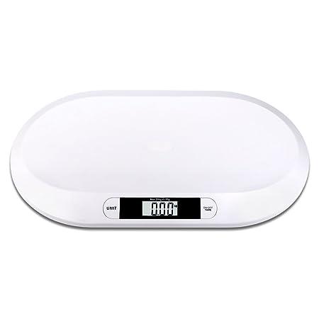S/O® báscula plana digital para bebés hasta 20kg, báscula para niños, báscula para mascotas: Amazon.es: Hogar