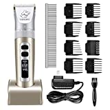 Pet Clippers, OMORC Low Noise Dog Clippers Rechargeable Cordless Electric Dog Cat Shaver