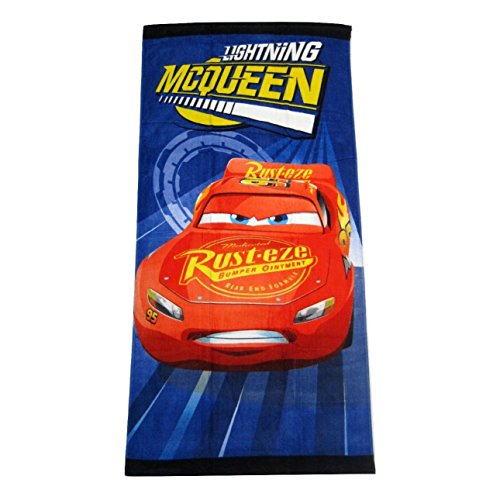 Disney Pixar Cars Lightning McQueen Clubhouse Fiber Reactive Beach Towel - Turbo