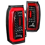 Spec-D Tuning For GMC Yukon XL SUV Clear LED Jet Black Tail Lights Rear Brake Lamps Left+Right