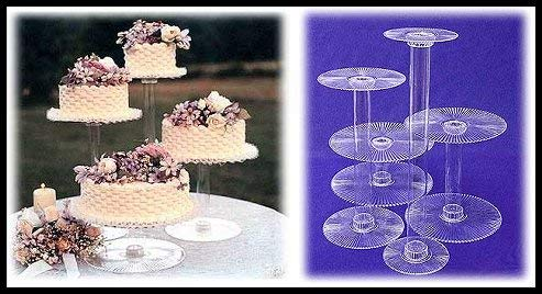 4 Tier Clear Wedding Cupcake Cake Stand (STYLE 400-B)