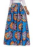 Oberora-Women Fashion Africa Print Bandage Big Hem Dashiki Maxi Skirts 1 XS