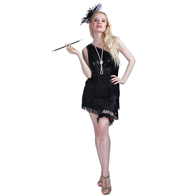 EraSpooky Traje de Vestido de la Aleta de la Moda de los Años 20 DE Las Mujeres: Amazon.es: Ropa y accesorios