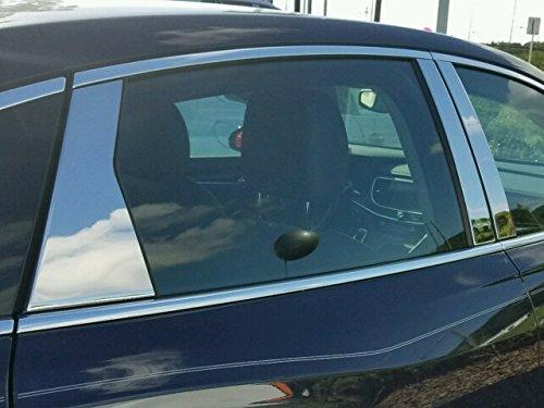 (QAA FITS Lacrosse 2017-2019 Buick (6 Pc: Stainless Steel Pillar Post Trim Kit, 4-Door) PP57521)