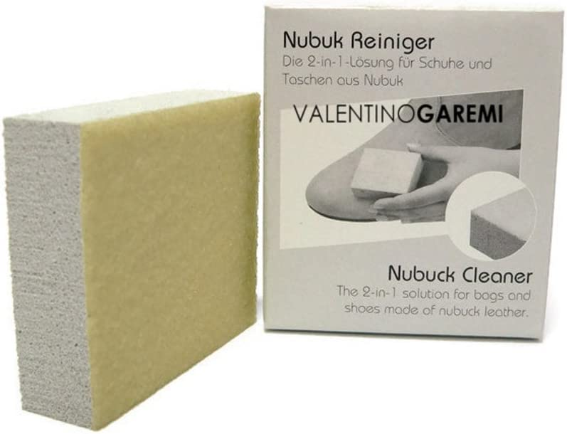 Valentino Garemi Nubuck or Soft Suede Leather Sponge - Shoe Boots Cleaner - Garments Marks Remover - Accessories Stain Erase