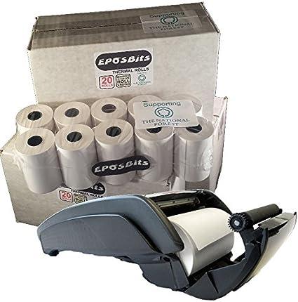 EPOSBITS® - Rollos grandes de tamaño completo para terminal de tarjetas de crédito Ingenico iCT250 iCT 250, 60 rollos, 3 cajas: Amazon.es: Oficina y papelería