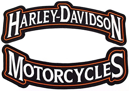 (Harley Rocker Patches Embroidered Motorcycle Patch Large - by Nixon Thread Co.)