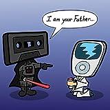 """I Am Your Father"" Funny Audio & Space Movie Parody - Vinyl Sticker"