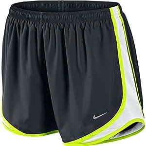 "Nike Tempo Track 3.5"" Women's Athletic Short (X-Large, BLACK/WHITE/VOLT/MATTE SILVER)"