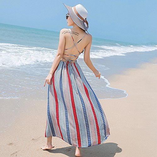 XIU RONG color Y Playa Falda Falda Falda De Verano Playa 6A6wxqr