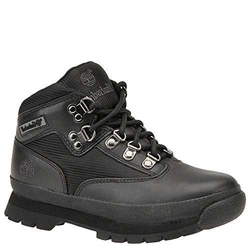 Timberland Euro Hiker Leather and Fabric Boot (Toddler/Little Kid/Big Kid),Black,13.5 M US Little Kid (Timberland Euro Hiker Black)