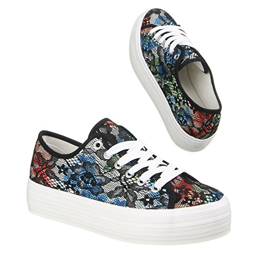 Ital-Design - zapatos de tacón Mujer Varios Colores - Schwarz Multi