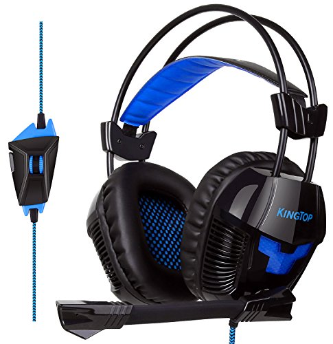 KingTop PS4 Gaming Headset K11 Stereo Kopfhörer mit Mikro für PS4 Xbox One PC Laptop iPad iPhone Smartphone