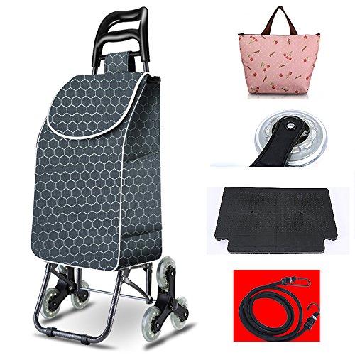 [XINXIKEJI]ショッピングカート ショッピングキャリー 折りたたみ 保温バッグ贈り かぎ付き3輪/30L/耐荷重35kg/階段登り 楽々 老人車 母の日/買い物/ギフト/バーベキュー/ピクニック B07C1QFXFY グレー グレー