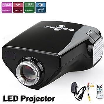 Proyector portátil, Flylinktech Mini Multimedia proyector LED con ...