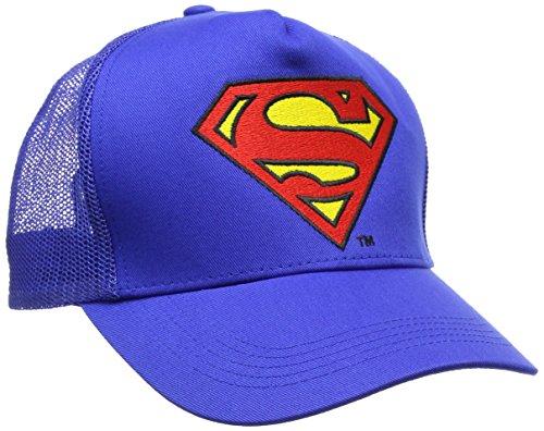 Talla Azul Adulto Gorra Blue única Superman Unisex Béisbol Azure Logo de nYqTCwZz