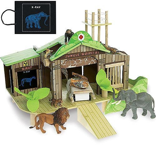 Jungle Hospital - Wooden Wildlife Hospital and Rescue Center (Le Toy Van Jungle)