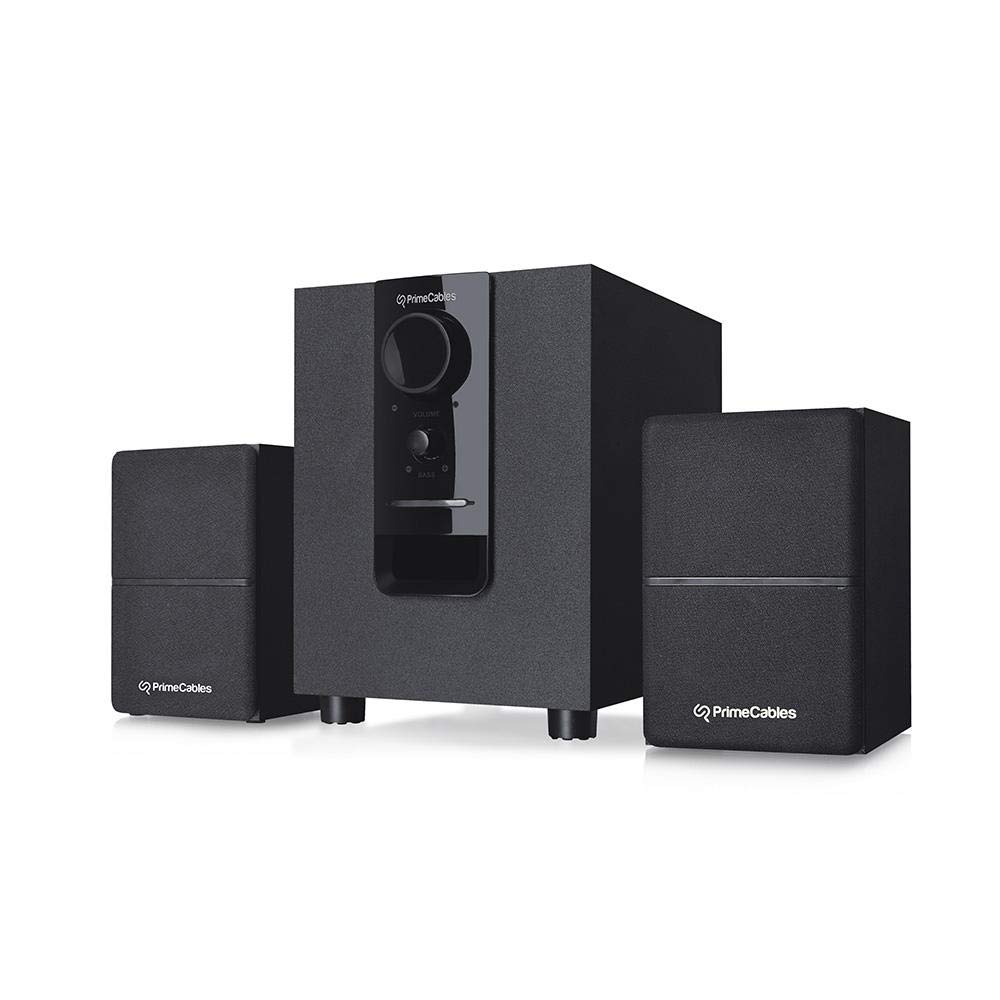 2.1 Bluetooth Multimedia Stereo Powered Speaker and Subwoofer Set - PrimeCables