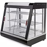 New Food court restaurant Heated Food pizza Display Warmer Cabinet Case 27'' Glass