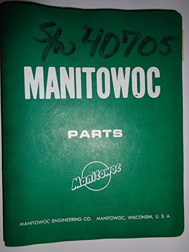Crane Parts Catalog Manual - Manitowoc 4000W Crawler Crane Parts Catalog Book Manual 1972 original