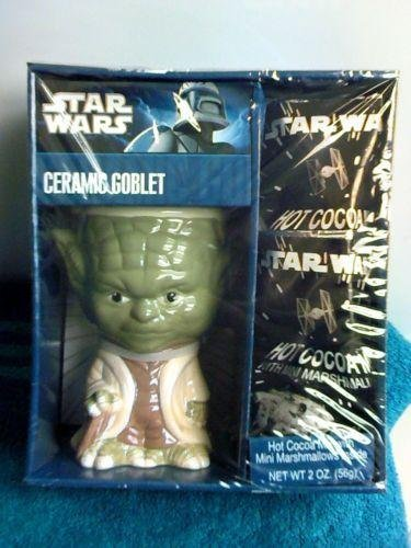 Ceramic Yoda (Star Wars Yoda Ceramic Goblet with Hot Cocoa Mix)