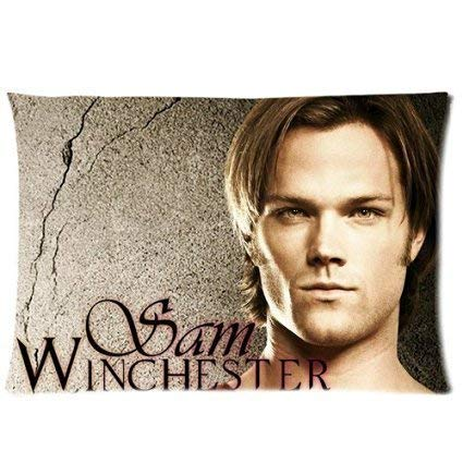 WarmHome Custom Supernatural Sam Home Decorative Soft Throw Pillowcase Cushion Custom Pillow Case Cover Protecter with Zipper Standard Size 16x24 Inches Two Sides Printed