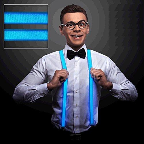 Blue LED Suspenders by Blinkee
