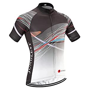 (maillot tamaño:L) Ciclismo libre cortas Trajes Mangas Ropa ciclo Respirable Maillot bicicleta aire Jersey cómoda al secado ciclistas jerseys de