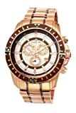 Porsamo Bleu Grand Prix Noir Stainless Steel Rose Tone & Brown Men's Diamond Watch 092CGPS