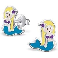 My jewel - H18682usa - Silver Mermaid earrings