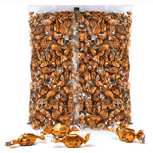 Orange Foils Hard Candy, 1.32 Pounds Bag of Orange Color Themed Kosher Mini Candies Individually Wrapped Orange Fruit-Filled Flavored Candy (NET WT 600g, About 310 Pieces)]()