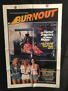 Burnout 1979 Original Vintage One Sheet Movie Poster, NHRA, Racing, Drag Racing, Race Car, Sexploitation