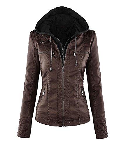 leather hooded jacket - 6