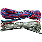 4 X 25m 82ft 65ft 1000lb 453kg Maelstorm Authentic Quality Kite Line Set with Pigtails Line Connectors Adjusters for Kitesurfing Kiteboarding Snowboarding