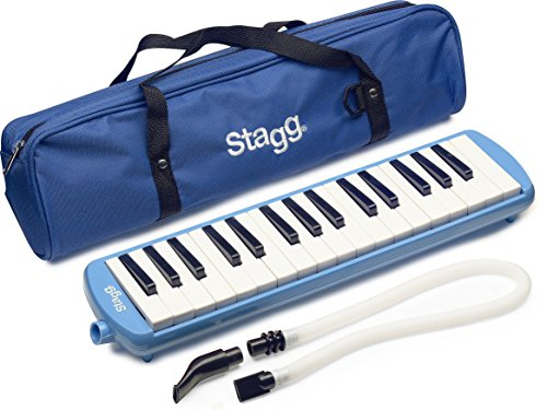 Stagg MELOSTA32 BL 32-Key Melodica with Nylon Gig Bag Included, Blue by Stagg