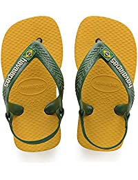Havaianas, Sandálias New Baby Brasil Logo, Amarelo Banana, Tamanho 21 BR