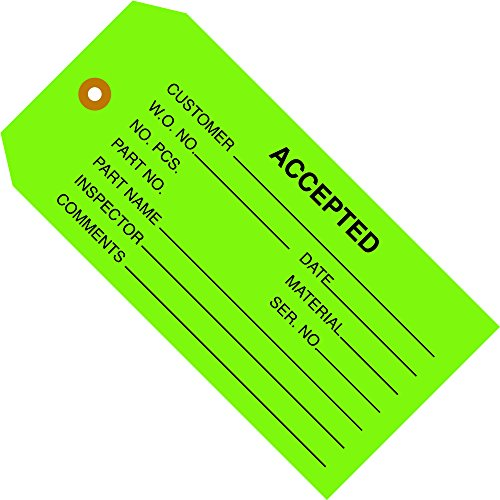 Partners Brand PG20021 Inspection Tags,