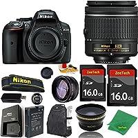 Great Value Bundle for D5300 DSLR – 18-55mm AF-P + 2PCS 16GB Memory + Wide Angle + Telephoto Lens + Backpack
