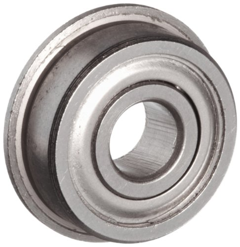 Flanged Shielded Stainless Steel SF605ZZ 5 x 14 x 5 mm Miniature Ball Bearings VXB Brand - Stainless Flanged