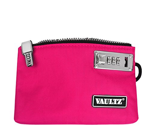 VaporVaultz Locking Accessory Pouch, 1 x 5.x 8 Inches, Pink (VZ00505)
