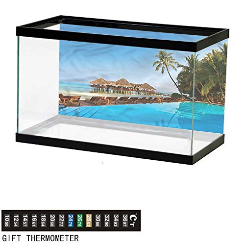 (Suchashome Fish Tank Backdrop Seaside,Tropical Maldives Island,Aquarium Background,24