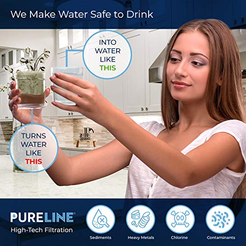 Pureline 9990 & LT600P Water Filter. Compatible with Kenmore 9990, LG LT600P, 5231ja2006a, Kenmoreclear 46-9990. (2 Pack)